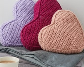 Heart Cushion   Heart Pillow  crochet pillows  knit cushions  knitted cushions  knit pillow  knitted pillow  heart shaped