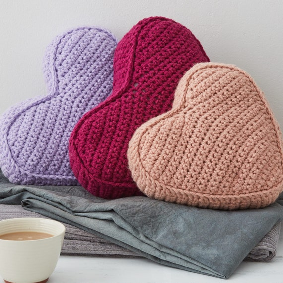 Heart Shaped Cushion Knitting Pattern