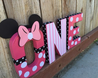 """Minnie Mouse themed """"ONE"""""""