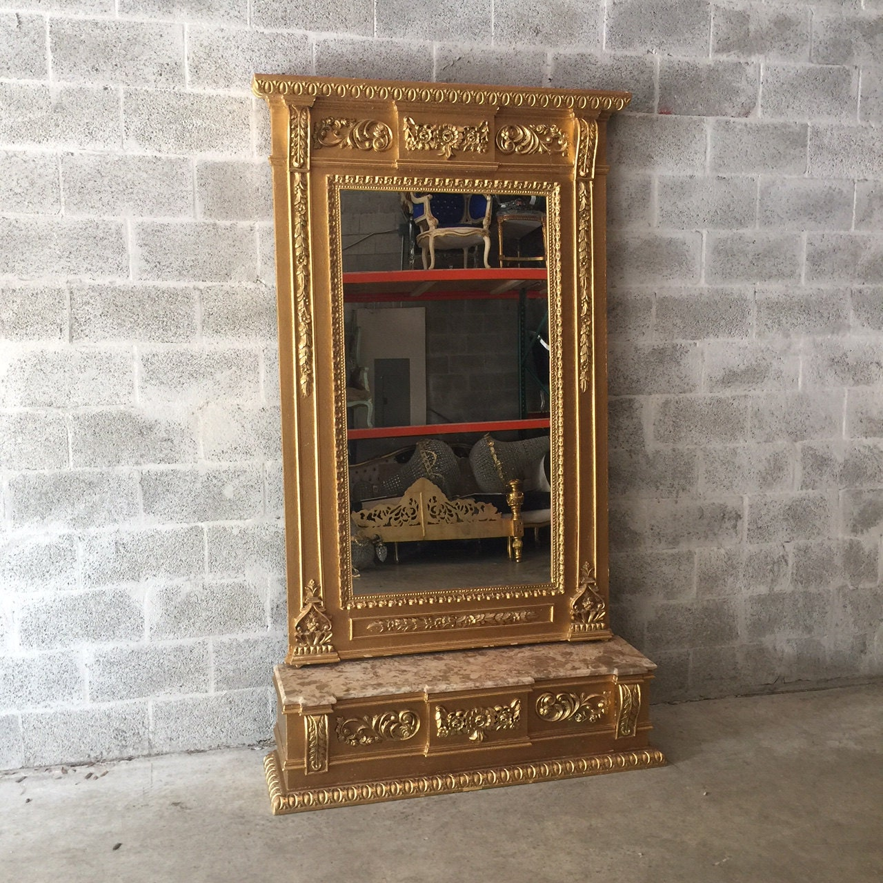 On The Floor French: French Floor Mirror Antique French Louis XVI Floor Mirror