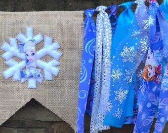 Frozen banner, Frozen birthday banner, Frozen decor, Frozen first birthday, Elsa highchair banner,