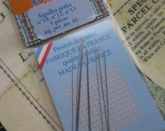 Sajou Pack of 9 Assorted Beading Needles