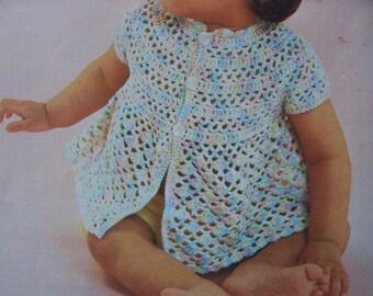 Baby Crochet Summer Top vintage PDF Pattern