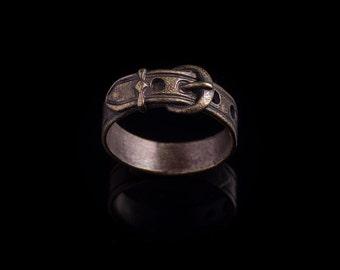 Belt Ring, brass, size 17mm / US 6.5, handmade