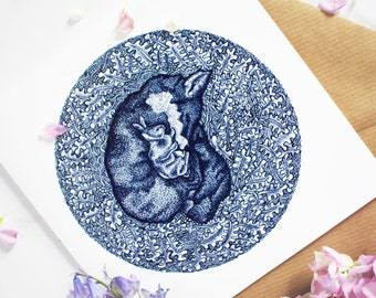 Pack of 5 Fox and Rabbit Greetings Cards