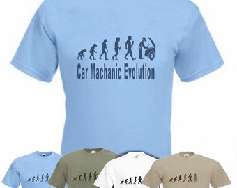 Evolution To Car Mechanic t-shirt Funny Auto Mechanic T-shirt sizes Sm TO 2XXL