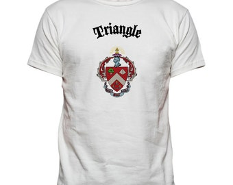 Triangle Fraternity Vintage Crest T-shirt