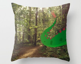 Hide and Seek with Elliot..Pete's Dragon.. throw pillow with insert