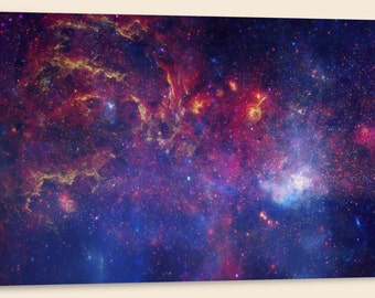"""Center of the Milky Way Galaxy IV, Composite  (20"""" x 48"""") - Canvas Wrap Print"""
