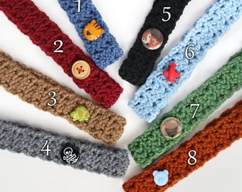 3 Baby Crochet Headbands / Pick 3 BoyBandz Headbands / Gender Neutral Baby Accessories / Baby Shower Gifts / Boy Headband Set / Boy Gifts