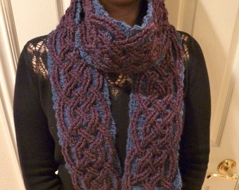 Starry Night Braided Cable Scarf Crochet Pattern for Women and Men