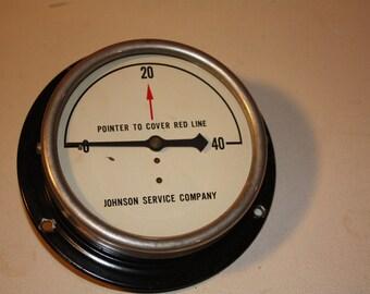 Vintage Air Pressure Gauge