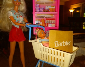 Barbie and Shopping Cart