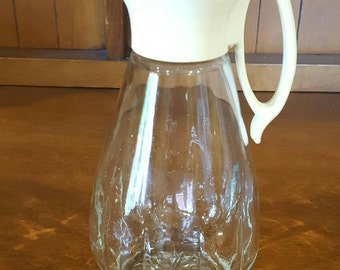 Vintage Clear Glass Syrup Pitcher