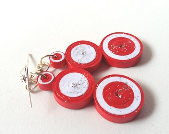 Red and white danglers