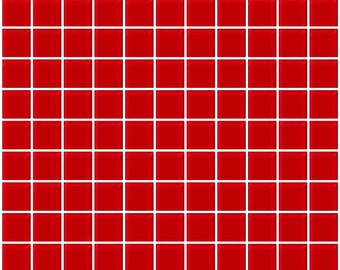 1-inch red glass tile (J1501)