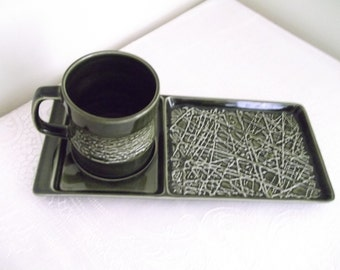 Carlton Ware Skye - Cup and Snack Tray