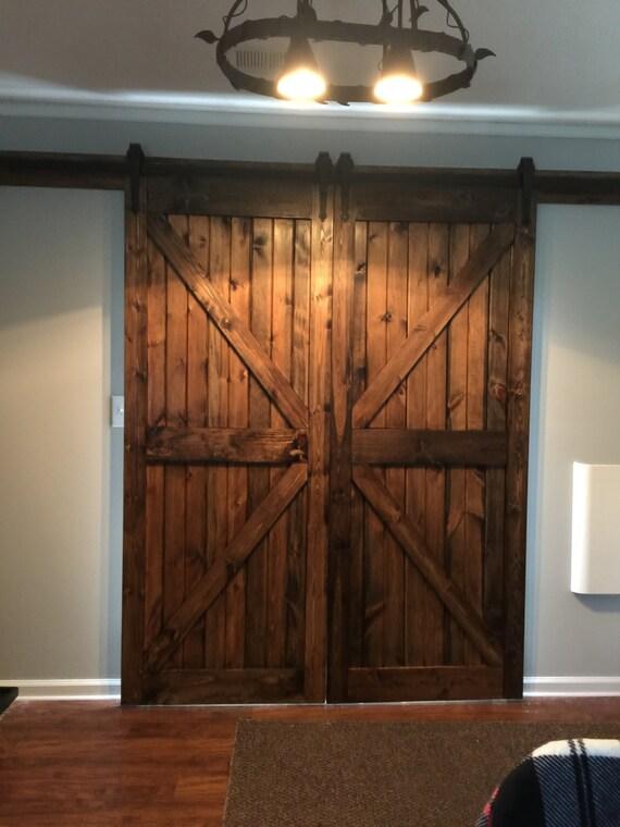Custom Size Solid Wood Farm Style Sliding Barn Doors