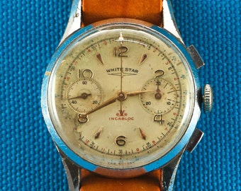Vintage White Star Chronograph Watch
