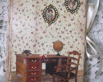 Vintage dogs diary, journal, notebook, shabby chic diary, vintage journal, shabby chic journal, vintage diary, tagebuch, Weinlesetagebuch