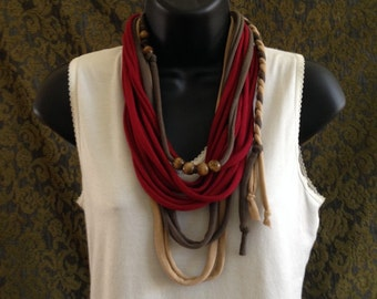 beaded tshirt necklace