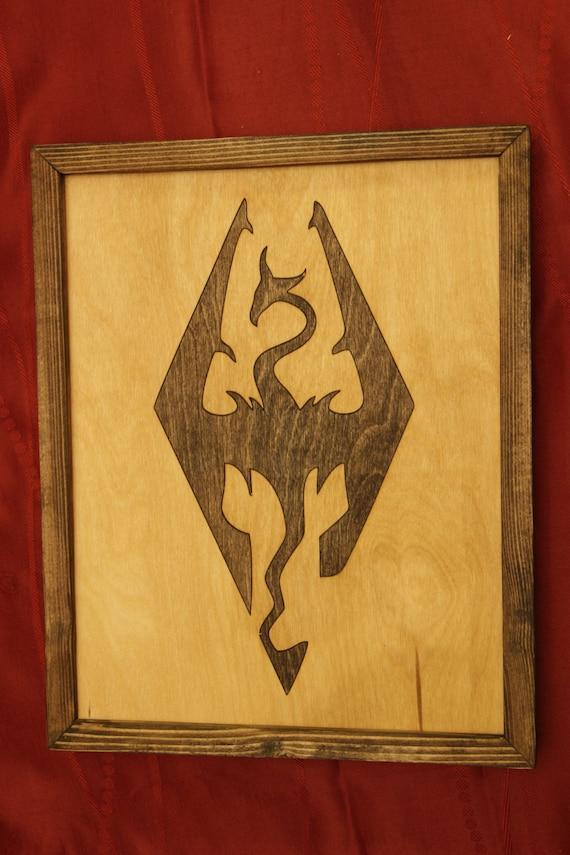 Wood Inlay Wall Decor : Skyrim wooden inlay wall art