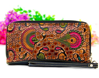 iPhone 6 Wristlet Wallet, Phone Wristlet, Wristlet Clutch, Zippered Wristlet Bag