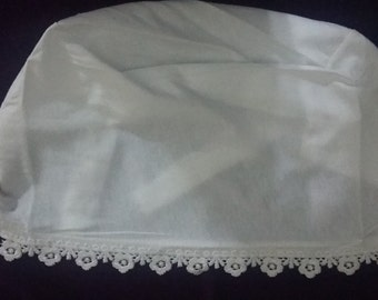 White Underscarf With Lace, Women Accessories, Spring, Summer, Fall