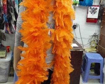 Free shipping heavy turkey feather boa #FT15001