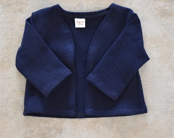 18 inch doll cardigan Navy Blue  color