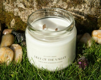 Eco Soy Candle Lilly of the Valley Candle 2 Wood Wick Extra Large Candle Tuur & Mor