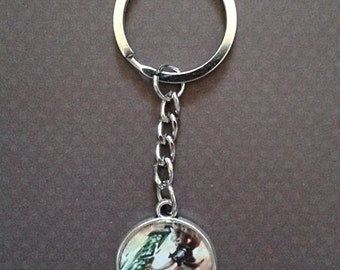 Riven League of Legends 2sided keychain