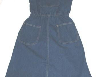 Vintage Calvin Klein Denim Jumper - Misses 8