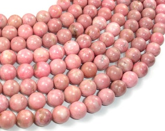 Rhodonite Beads, 10mm ( 10.3 mm) Round Beads, 16 Inch, Full strand, Approx 39 beads, Hole 0.8 mm (386054011)