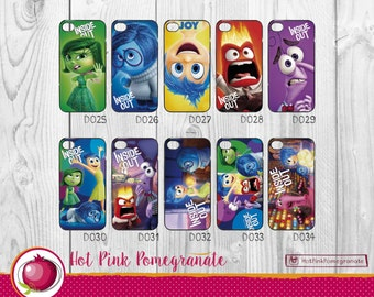 Inside Out Intensamente phone hard case for iPhone Samsung Galaxy hard case cover Anger, Joy, Disgust, Sadness, Fear