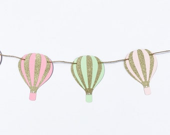 Hot Air Balloons Garland | Hot Air Balloon Banner | Hot Air Balloon Decoration | Hot Air Balloon Decor | Hot Air Balloon Party