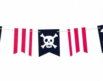 Pirate Garland | Pirate Banner | Pirate Decor | Pirate Decoration | Pirate Party | Pirate Birthday Pirate Fun | Skull and Crossbones