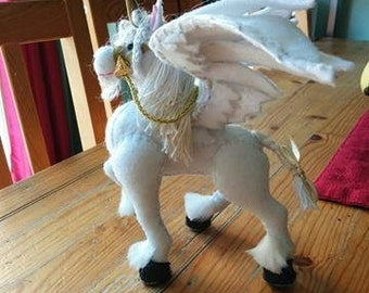 "Hand Crafted Unicorn-Pegasus Plush Art Doll ""Alpharion"""