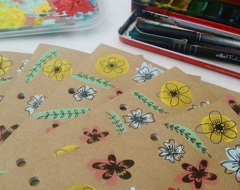 Hand painted floral A5 journals