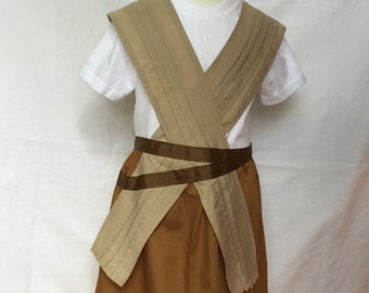 Rey from Star Wars inspired Comfy T-Shirt Dress, sizes 2-3 (for ages 2-3, 3-5)