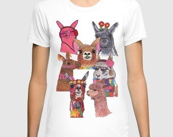 Llamas & Alpacas Galore T-shirt