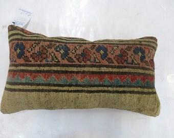 Antique Persian Serab Rug Pillow Sham 11''x19''