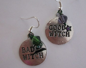 Good Witch Bad Witch Halloween Earrings