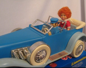 World of Annie Limousine, 1929 Model Duesenberg Little Orphan is Brand New in Box - Never Opened! from the 1982 movie