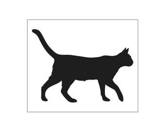 CAT STENCIL - 10 x 12 stencil - decorate furniture and walls!