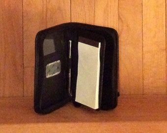 Coach Black Leather Delux PDA Case Smart Phone Sized Digital Device Case- Excellent Used Condition