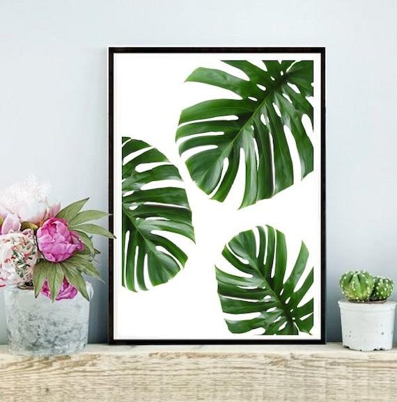 Tropical Leaf Printable Art Monstera Leaves By