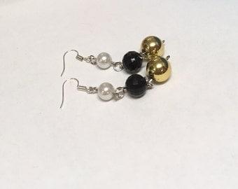 Three colour earrings