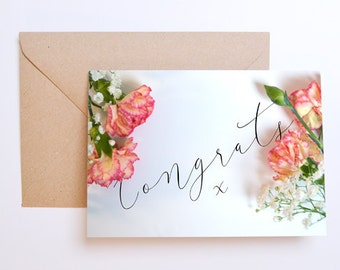 Floral Congratulations Card