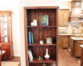 Bookcase - Bookshelf - Handmade Bookshelf - Simple Bookshelf - Pine Bookcase